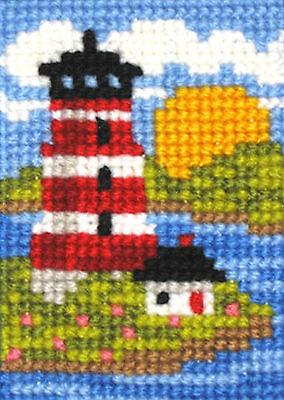 Needlepoint Kit ~ M.C.G. EZ Stitchin' Island Lighthouse Morning Sunrise #15405