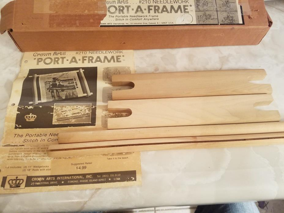 Crown Arts Lap Frame #230 Portable Needlework Frame New in Open Box