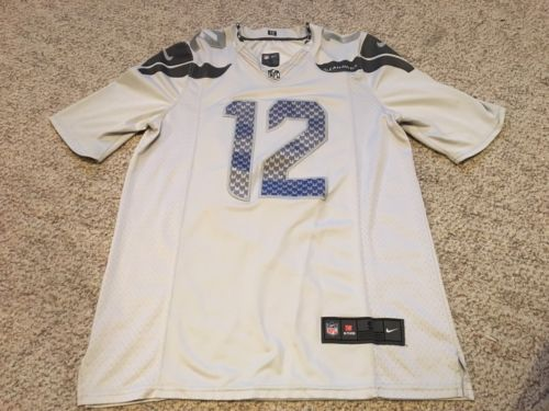 Nike Seattle Seahawks Men's S Stitched Jersey 12th Man/Fan - Grey NFL
