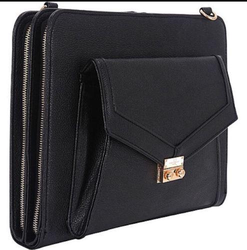 Sandy Lisa Portofino Universal Tablet Crossbody - Black Electronic Case NEW