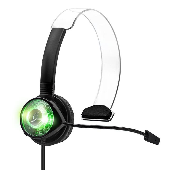 Genuine PDP Afterglow Xbox 360 Gaming Chat Headset AX.4 Communicator Green LED