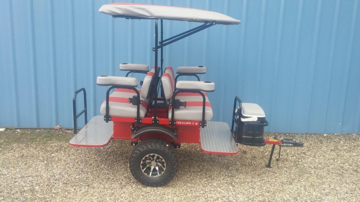 club car Ezgo Yamaha golf cart 4 passenger trailer  Tag-a-long