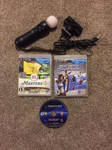 Sony PlayStation 3 PS3 Move Motion Sensor Camera! + Move Controller + Games!