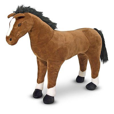 Melissa and Doug Horse Plush Toy, Brown