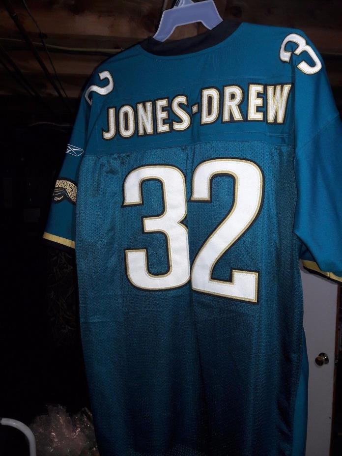 Reebok Authentic NFL Jacksonville Jaguars Maurice Jones-Drew Jersey Teal sz 60