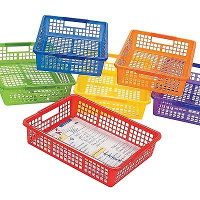 Plastic Classroom Storage Basket for School Supplies