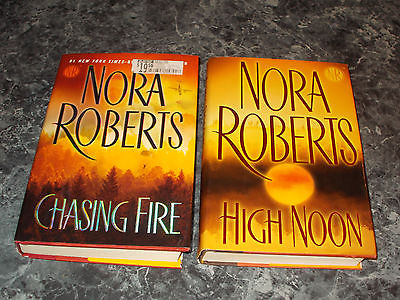 Nora Roberts lot of 2 romantic suspense hardcovers
