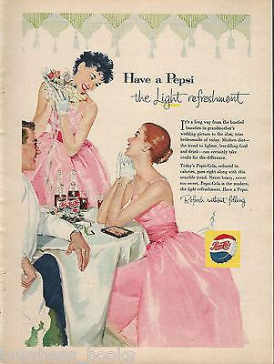 1957 PEPSI advertisement, bridesmaids at wedding