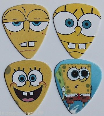 Spongebob Squarepants Collectable Novetly Guitar Pick Set Lot**Ships Worldwide**