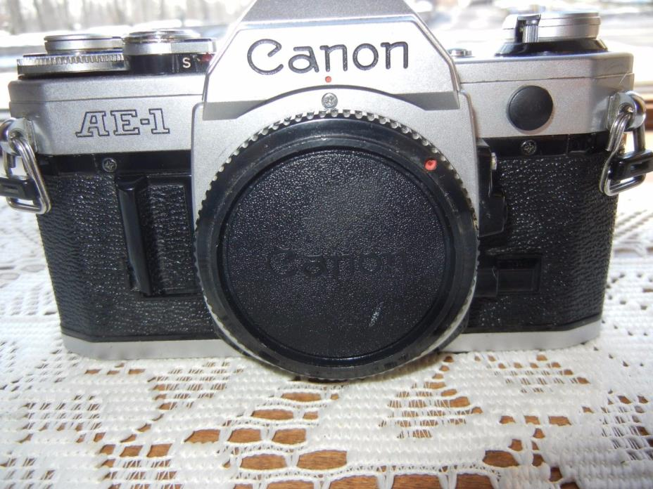 Canon AE-1 35mm SLR MF Camera Body  From Japan