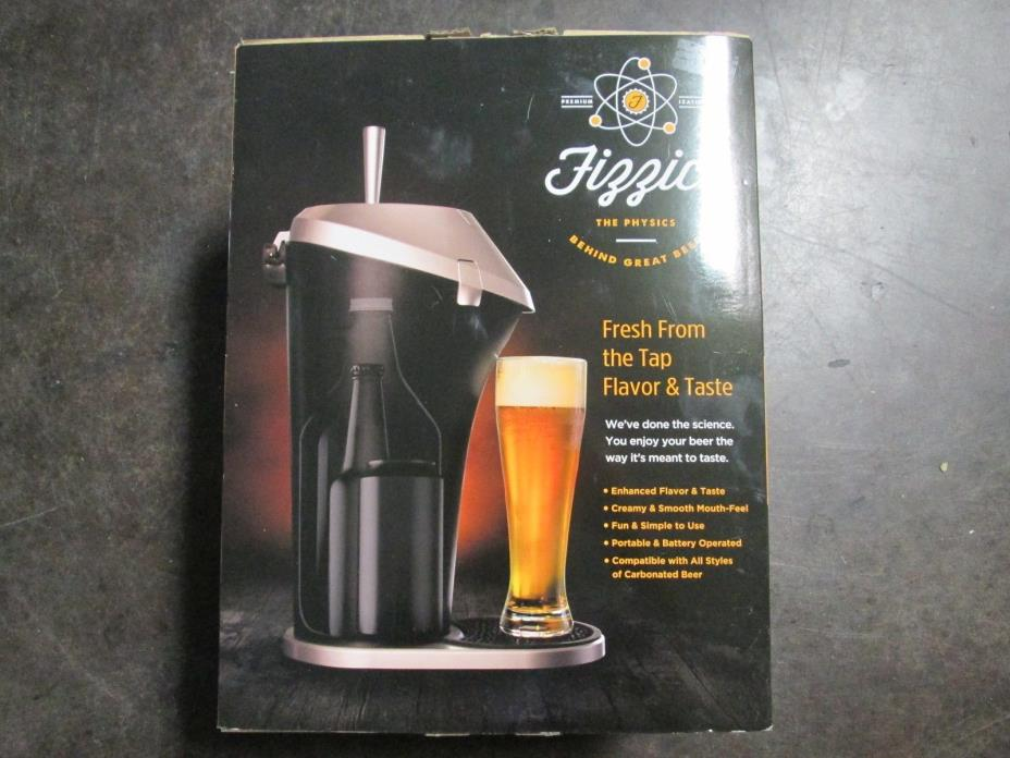 Beer Fizzics Revolutionary System One Size Black And Silver Draft Liquor USED