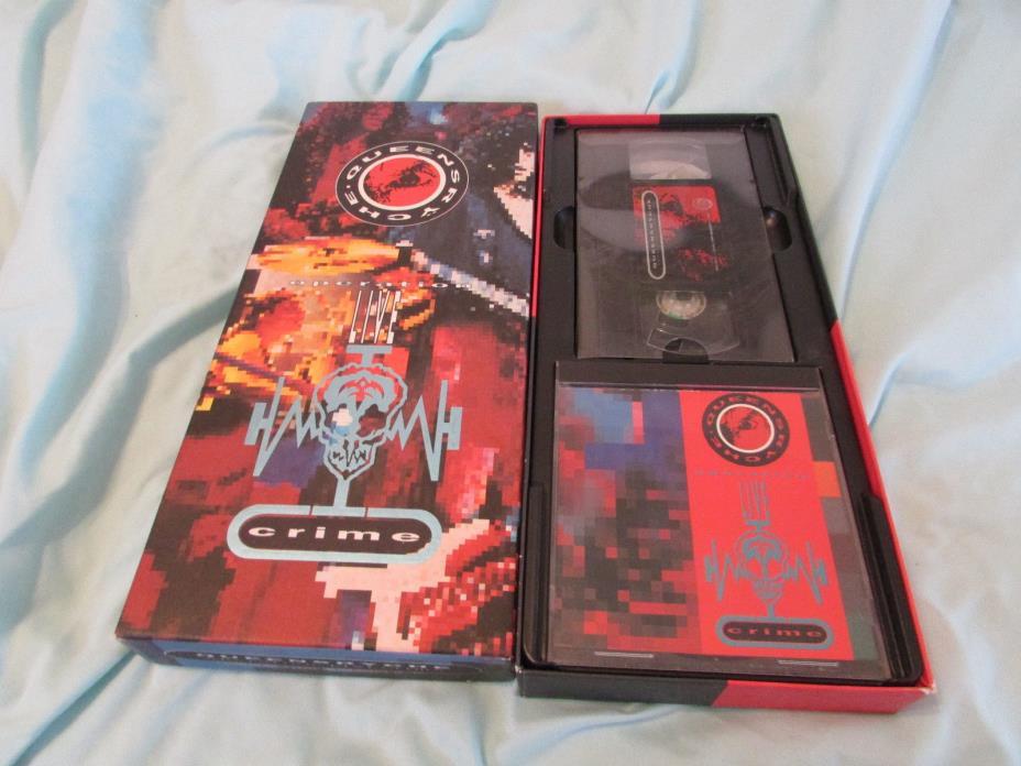 Queensryche Operation Live Crime Mindcrime CD VHS Video