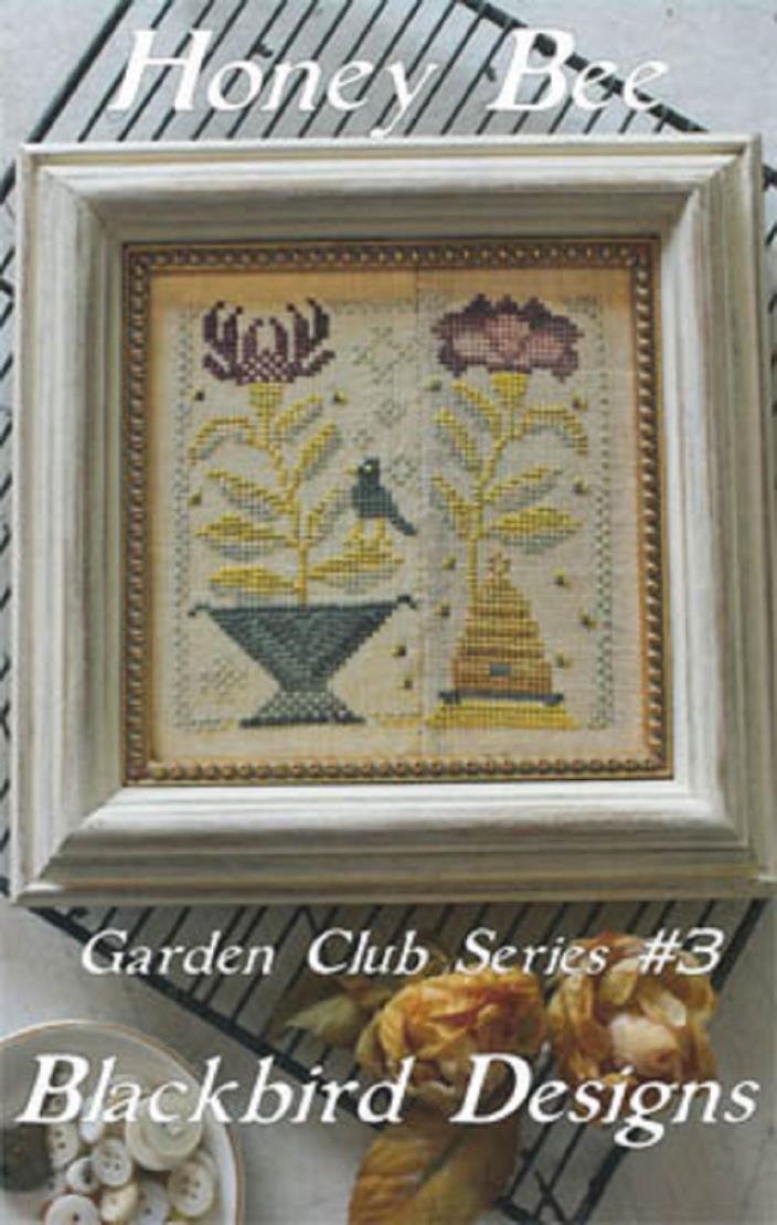 Blackbird Designs Ctd Cross St. Chart Garden Club Series   Honey Bee  #3