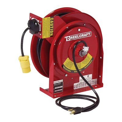 Reelcraft Power and Light 15 AMP Single Outlet Cord Reel - 45 ft.