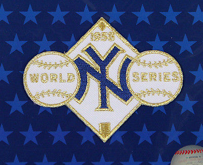 1958 NEW YORK YANKEES Major League Baseball WORLD SERIES PATCH ~ NEW ~ FREE S/H