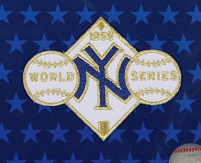 1958 NEW YORK YANKEES Major League Baseball WORLD SERIES PATCH ~ NEW ~ FREE S/H