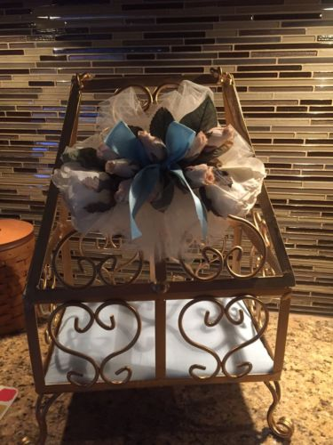Gold Card Holder Box Weddings Receptions Gift Container Basket Bridal Decoration