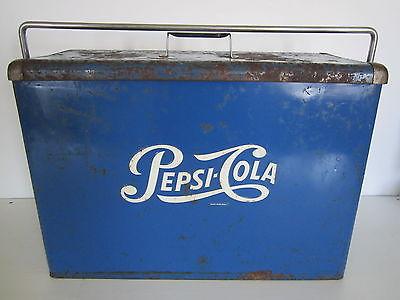 Vintage Pepsi-Cola advertising Picnic cooler chest sign soda pop Coke Crush 7Up