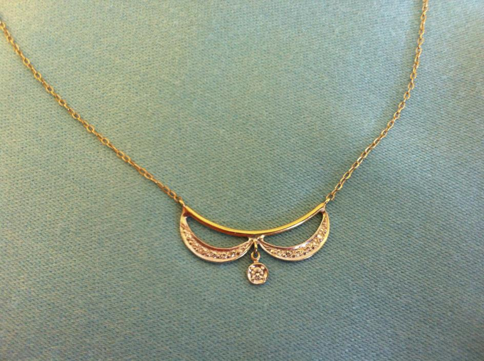 Diamond Necklace - Antique; Diamonds and 14 Kt. Gold - Gorgeous!