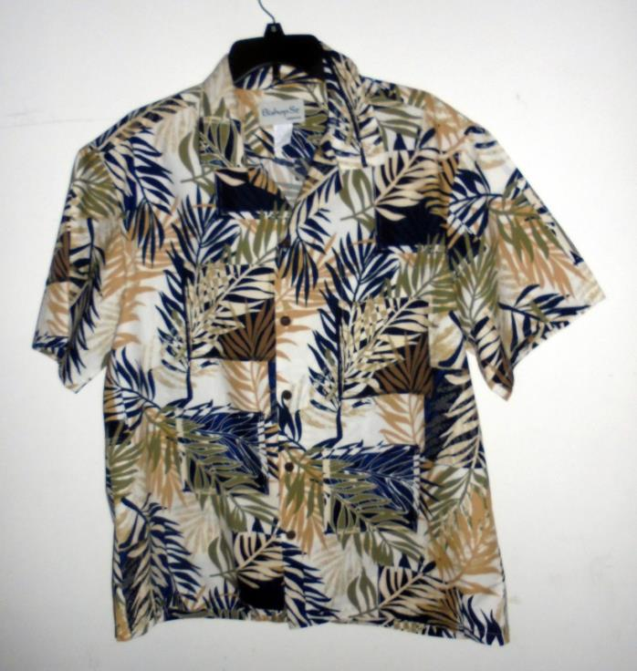 Bishop St. Hawaiian Tropical Foliage Print 100% Cotton Shirt XL