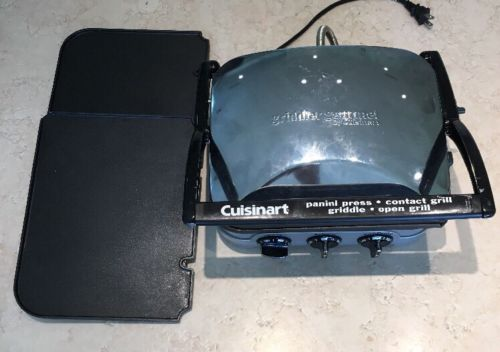 Cuisinart GR-11 Griddler Grill & Panini Press - Brushed Stainless