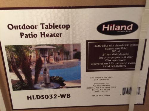 AZ Patio Heaters HLDS032-WB Portable Table Top Stainless Steel Patio Heater