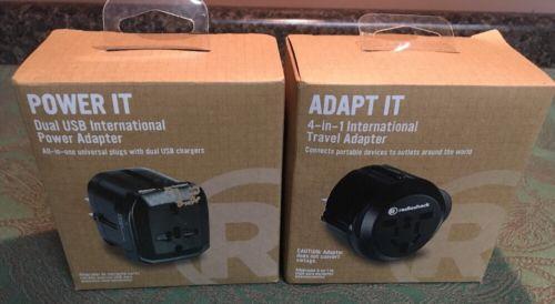 New RadioShack Dual USB International Power Adapter & 4-in-1 Travel Adapter