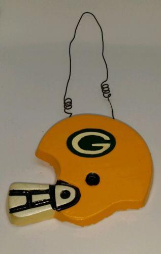 Green Bay Packers Football Helmet Wall Door Hanging Home Office Decor