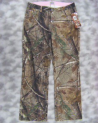 NEW Ivory Outfitters Womens RealTree AP Camo Twill Denim Pants Size 12 Boot Leg