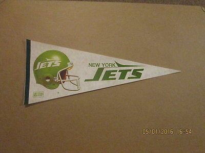 NFL New York Jets Vintage 2 Bar Facemask Logo Pennant
