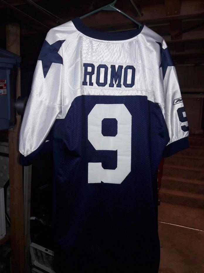 Size 56 Tony Romo Dallas Cowboys Jersey NFL Thanksgiving Throwback 3XL Sewn Nice