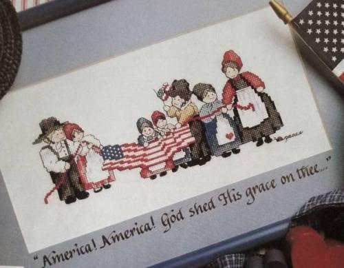 America, America Counted Cross Stitch Magazine Pattern From A Magazine U4