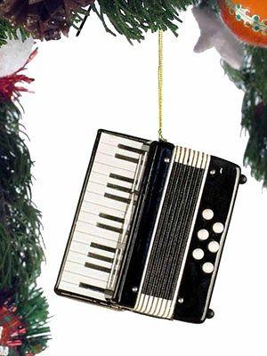 Miniature Black Accordion Ornament with Gift Box 3 Inches OKB