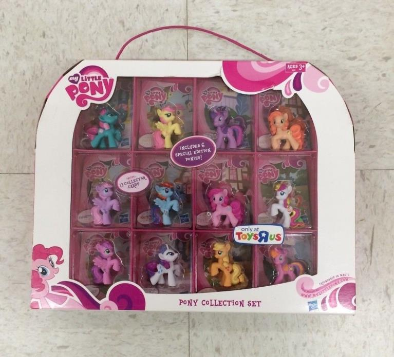 My Little Pony Collection Set - MLP - Toys R Us - 12 Ponies w/ Cards - USED