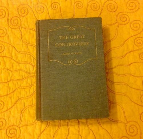 THE GREAT CONTROVERSY BETWEEN CHRIST AND SATAN ELLEN G. WHITE 1950 HARDBACK