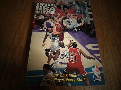 1998-1999 THE SPORTING NEWS OFFICIAL NBA REGISTER TONY KUKOC CHICAGO BULLS