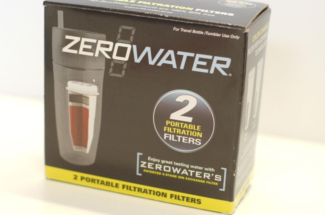 (2 Filters Total) NEW Zerowater Portable Filtration Filters 5 Stage