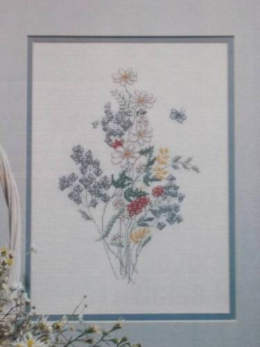 Wildflowers Counted Cross Stitch Pattern From A Magazine FM67