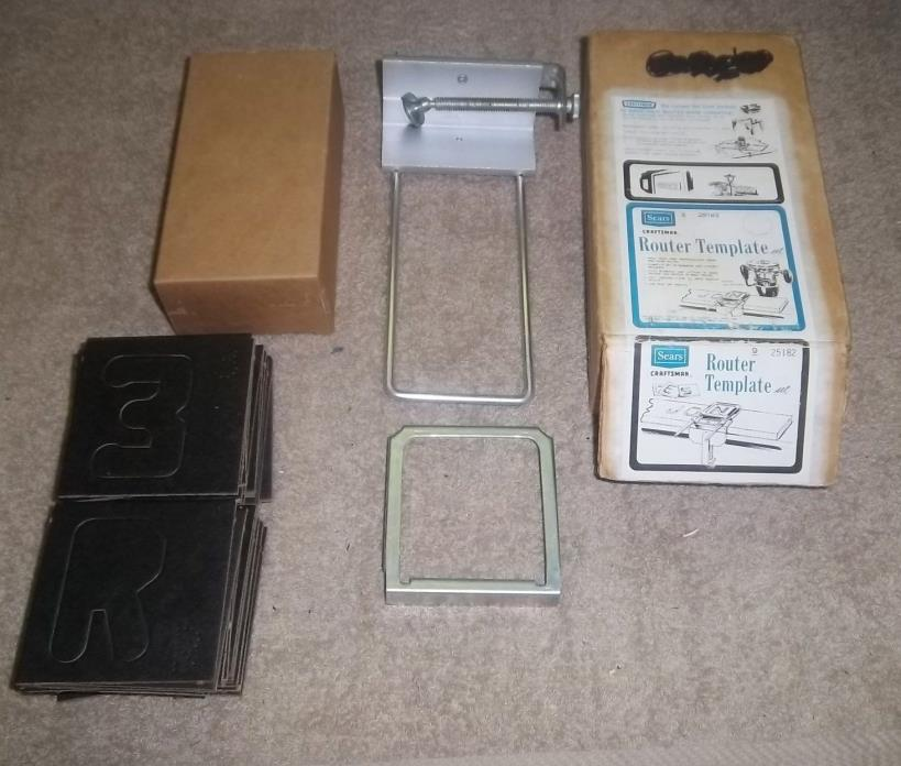 Old set of craftsman routers for sale classifieds for Router templates for signs