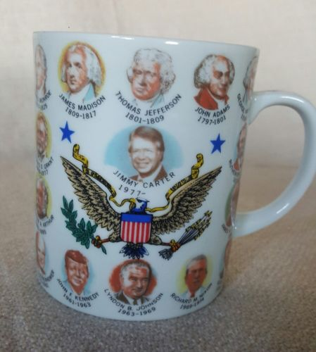 Us Presidents Vintage Eagle Coffee Mug Cup Japan