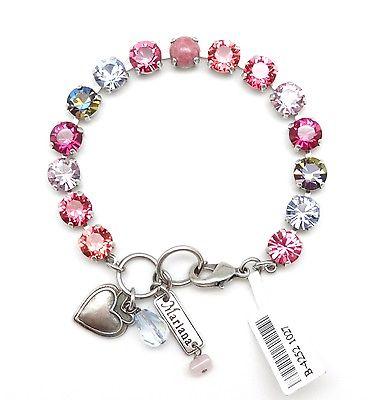 MARIANA Swarovski Crystal Silver Bracelet Pink & Purple Mix 1027 Joy Collection