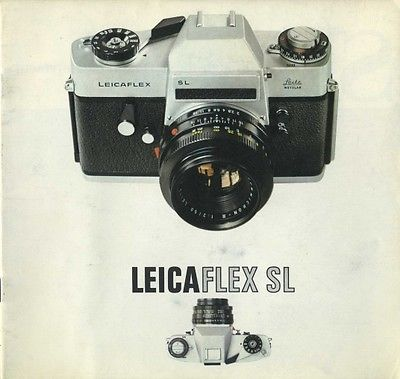 Leicaflex SL Color Catalog, 1970: ORIGINAL Catalog