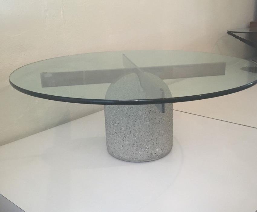 Giovanni Offredi Coffee Table Mid Century Modern Glass Chrome Coffee Table