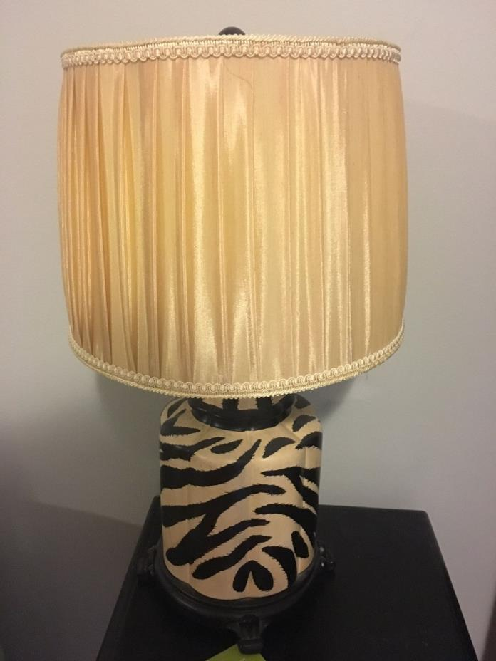 Table Lamp with zebra print base and shade