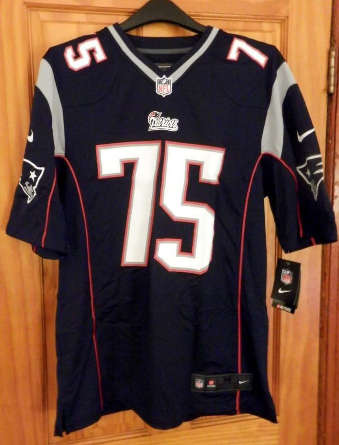 NEW w/ TAGS Nike Mens England Patriots NFL Vince Wilfork #75 Jersey Navy Sz MED