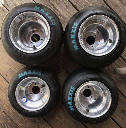 go kart racing aluminum douglas wheels and Maxxis HT3 tires read description!!!