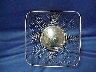 ART DECO Silver Plated Basket Dish Bowl 8 1/4