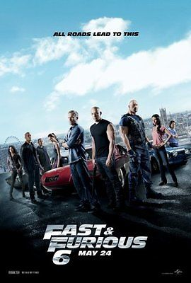 Fast And Furious 6 Movie Poster 24inx36in Poster