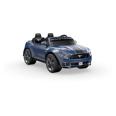 Power Wheels Smart Drive Ford Mustang Battery Powered Riding Toy, Blue, 12 Volt
