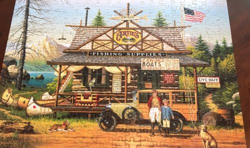 PreOwned - One Use Lil' Angler 300 pc JIGSAW PUZZLE CHARLES WYSOCKI
